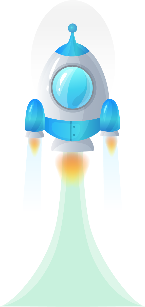 Rocket/Spaceship, the symbol of startup business